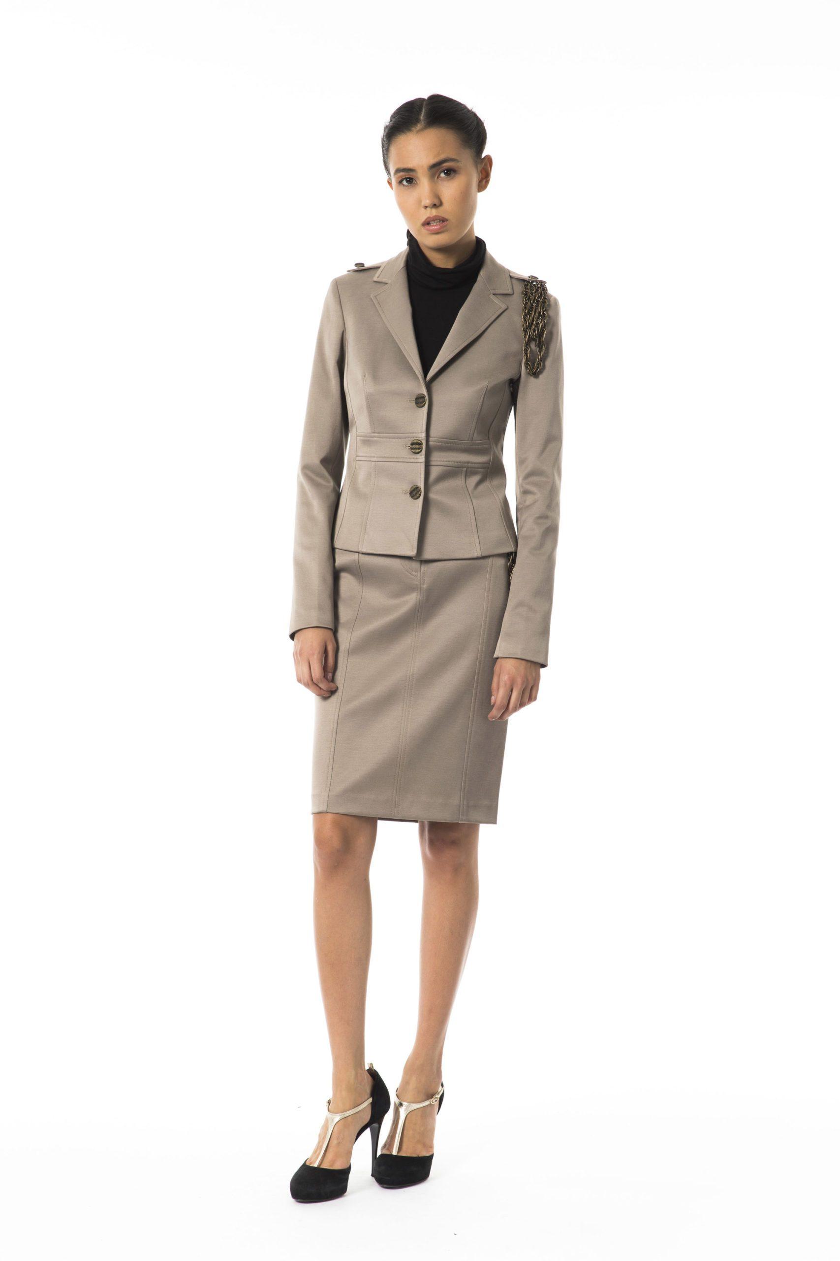 BYBLOS Women's Betulla Blazer Gray BY1263697 - IT40   XS