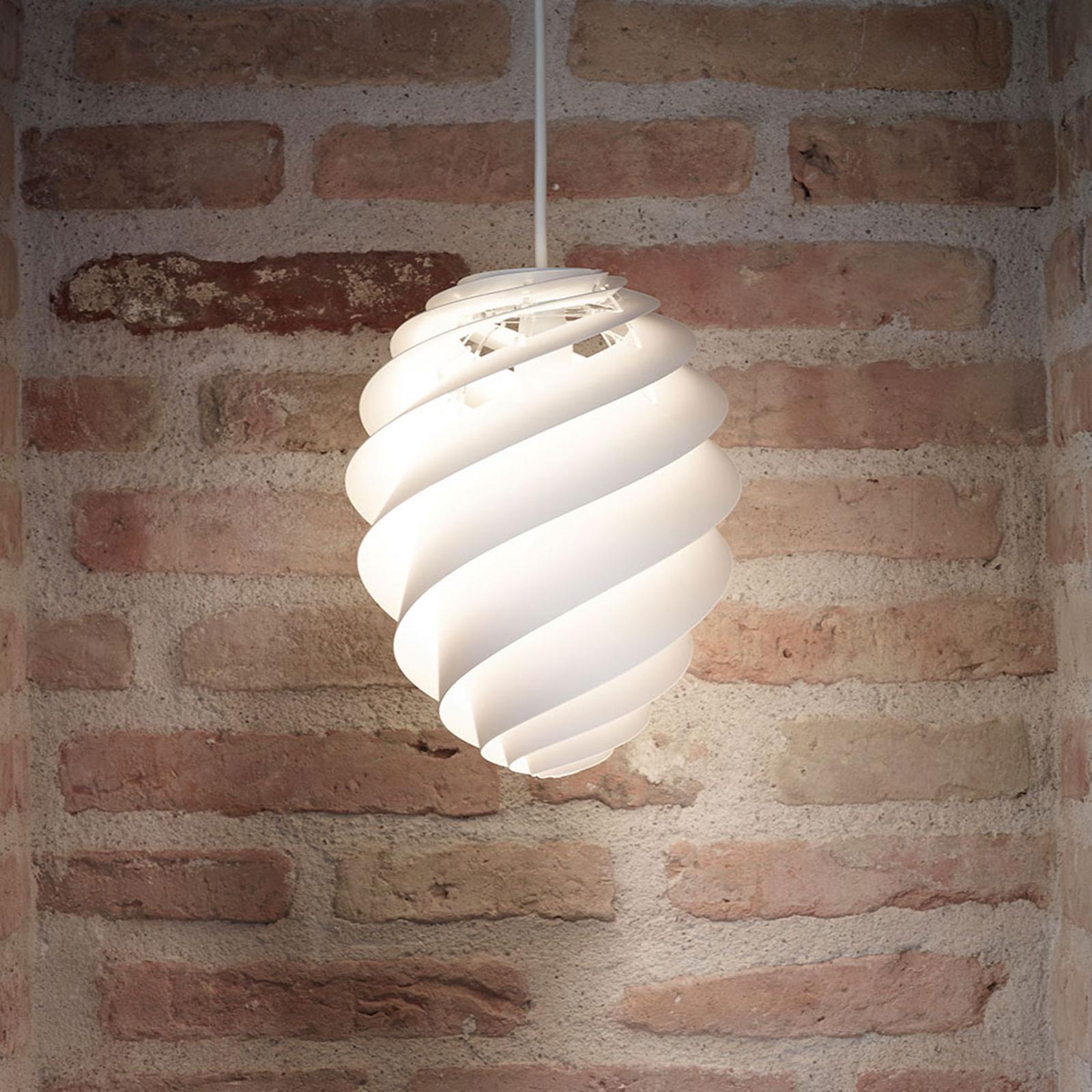 LE KLINT Swirl 2 Small -riippuvalaisin, valkoinen