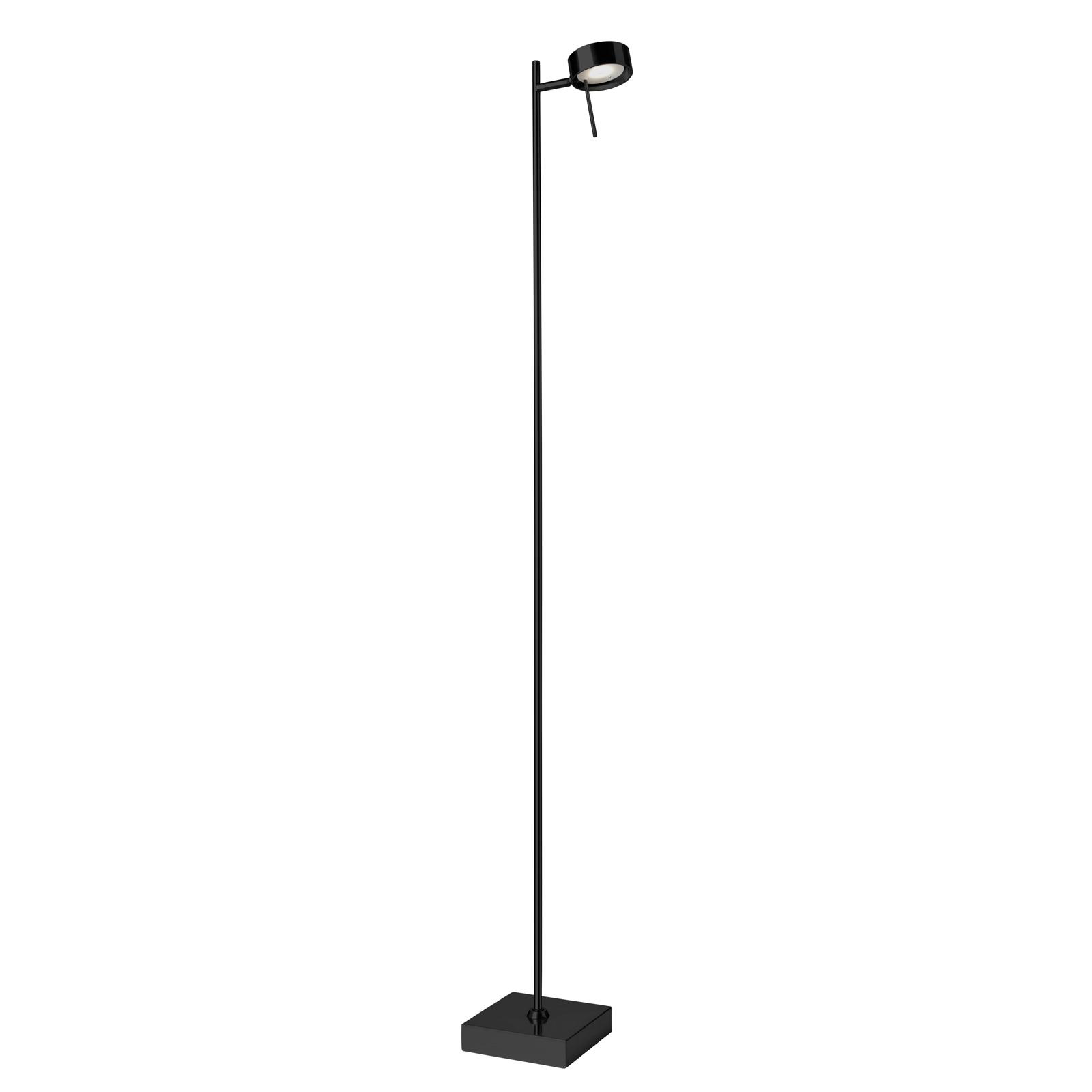 LED-lattiavalaisin Bling, himmennin, 1-lamp. musta