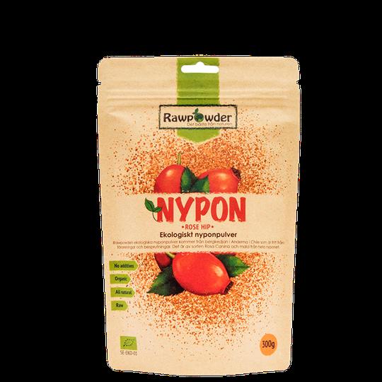 Nypon, Ekologiskt Nyponpulver, 300 g