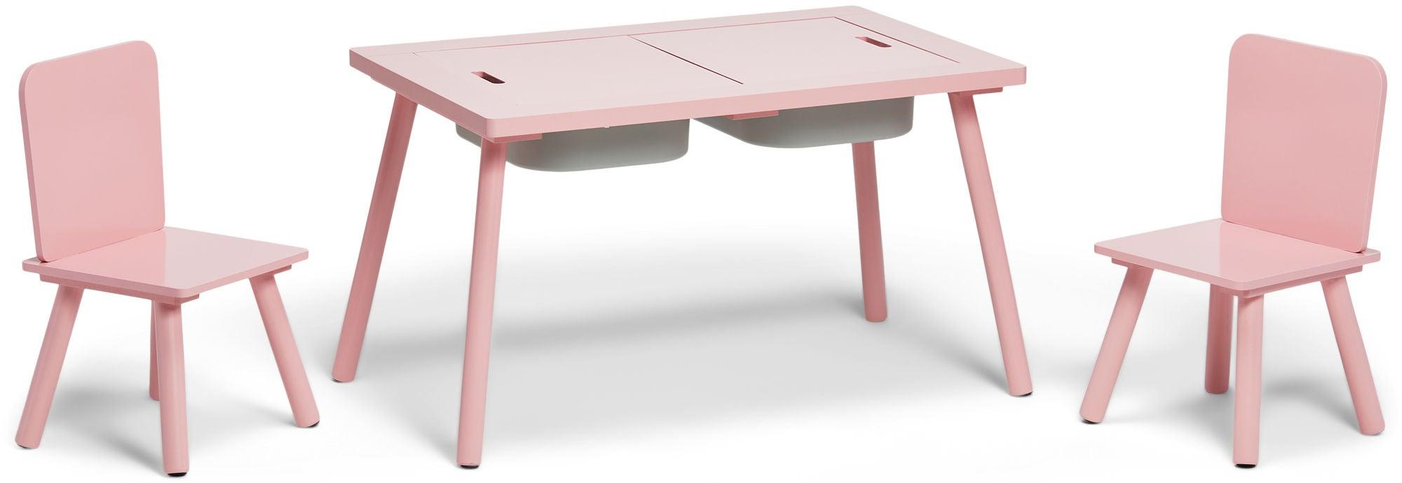 Alice & Fox Pöytä Säilytystilalla + Tuoli, Vaaleanpunainen