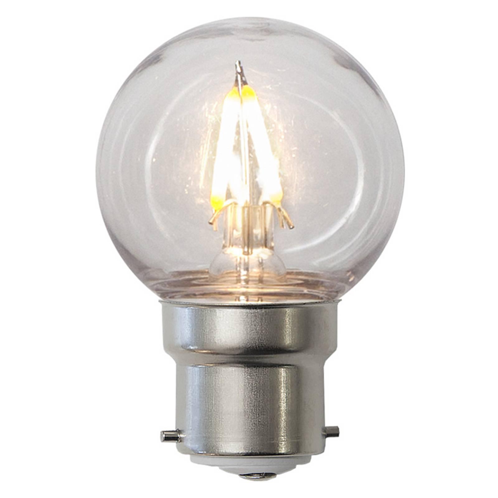 LED-lamppu B22 G45 1,3W, murtumaton, kirkas, IP60