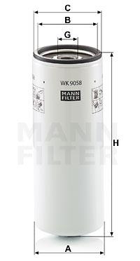 Polttoainesuodatin MANN-FILTER WK 9058