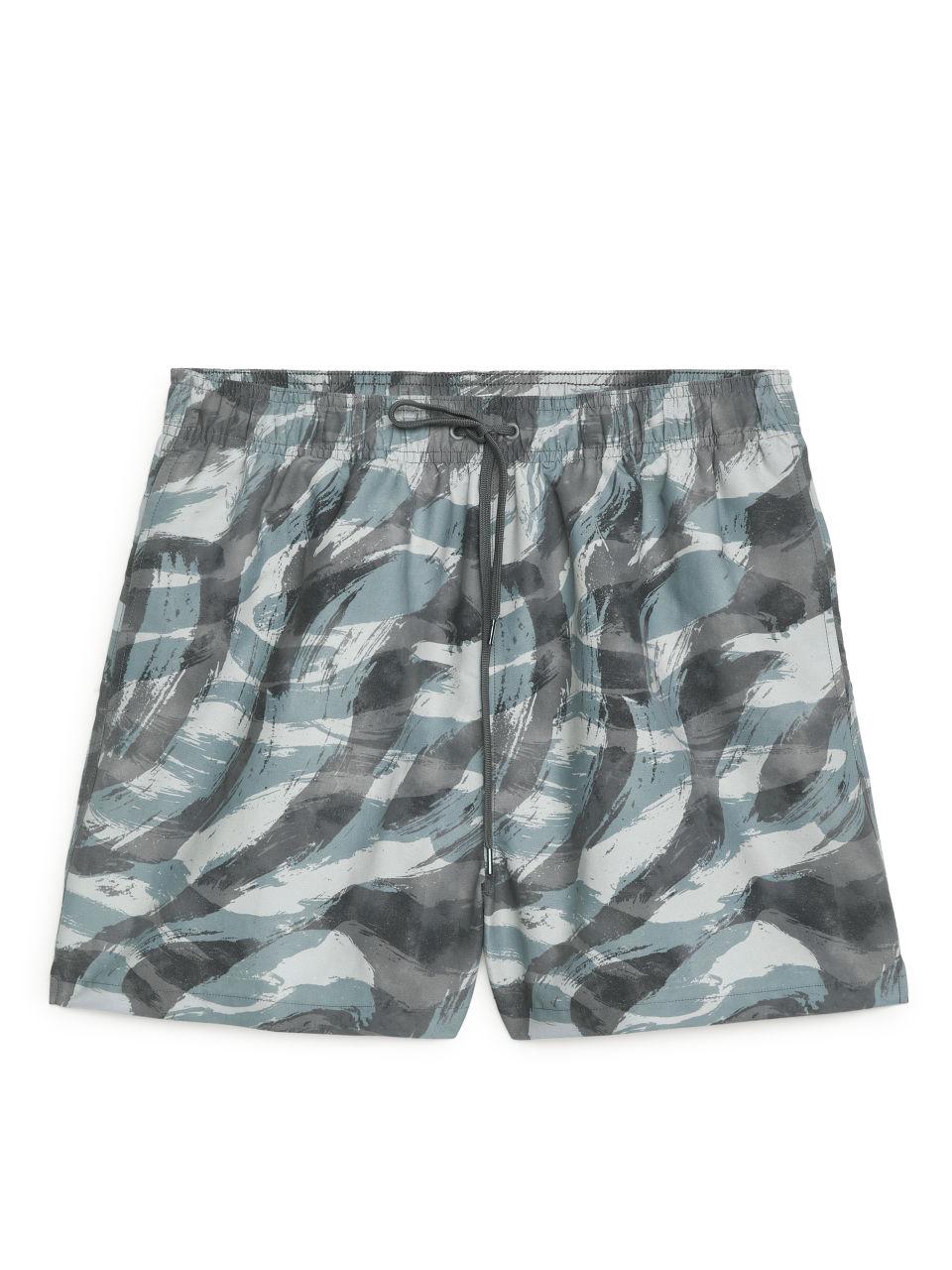 Printed Swim Shorts - Yellow