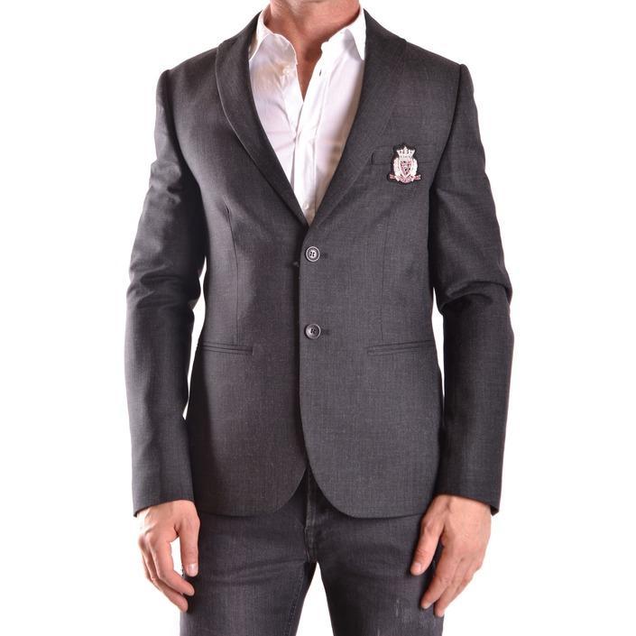 Daniele Alessandrini Men's Blazer Grey 188901 - grey 48