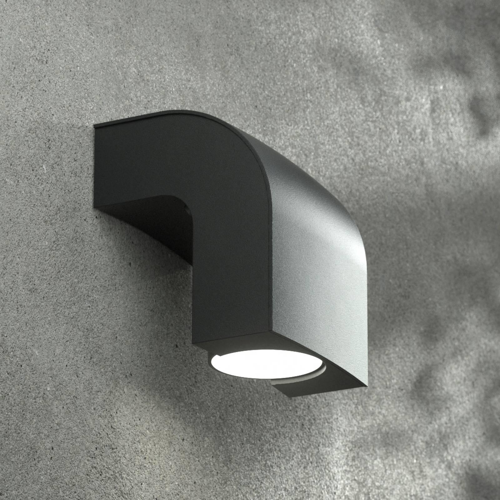 Ulkoseinälamppu KLAMP, korkeus 13 cm, 1-lamppuinen