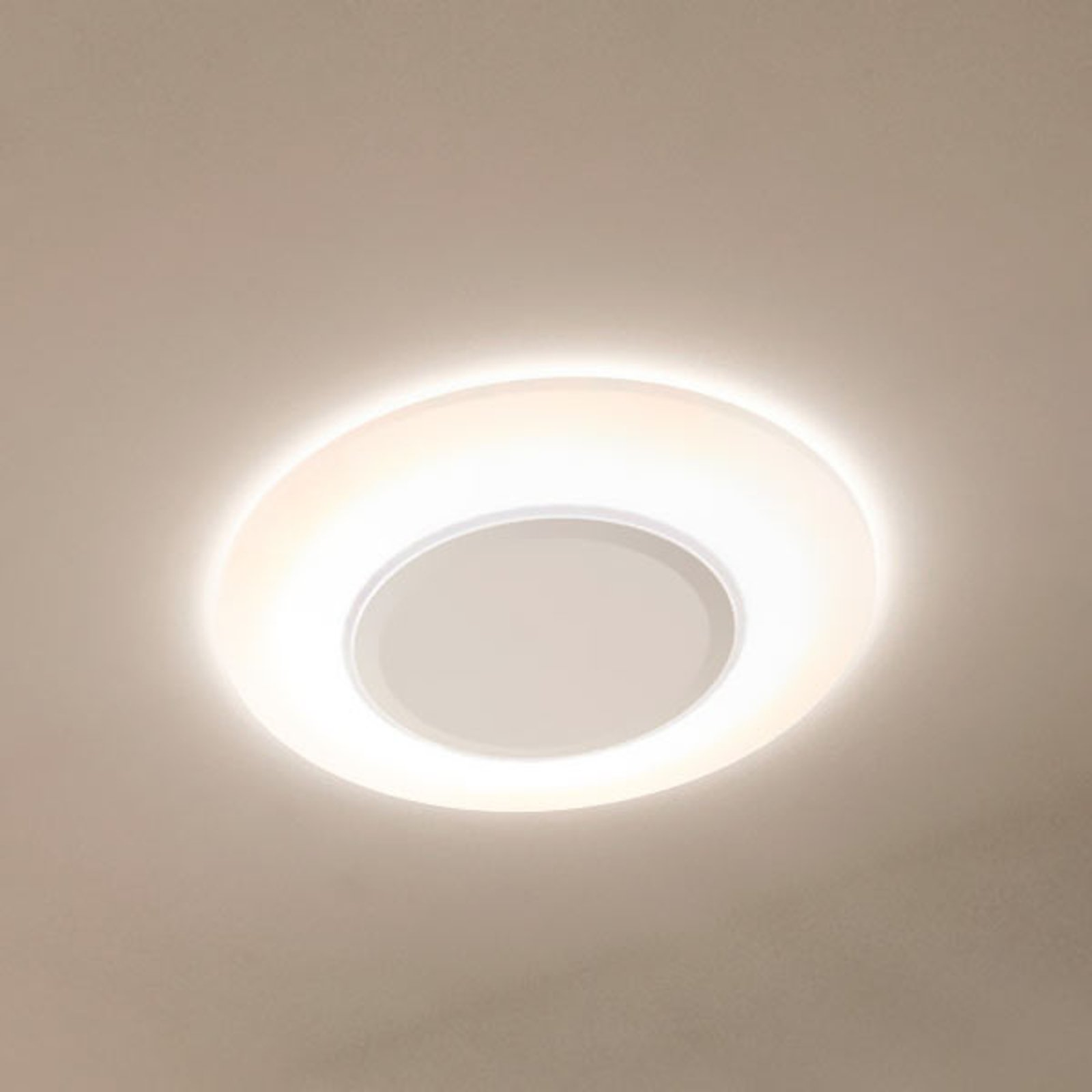 LEDVANCE Ring LED-taklampe, hvit, 28 cm