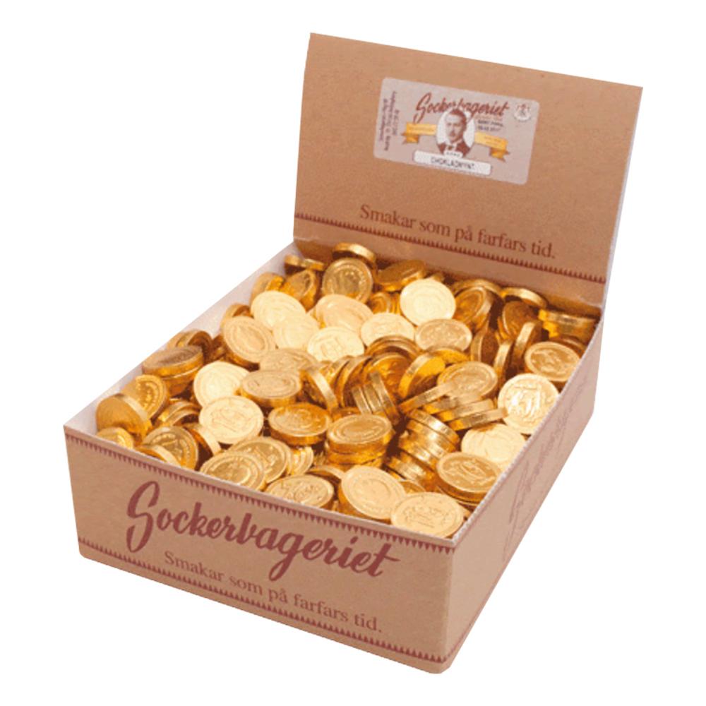 Chokladmynt Svenska Tiokronor i Kartong - 550-pack