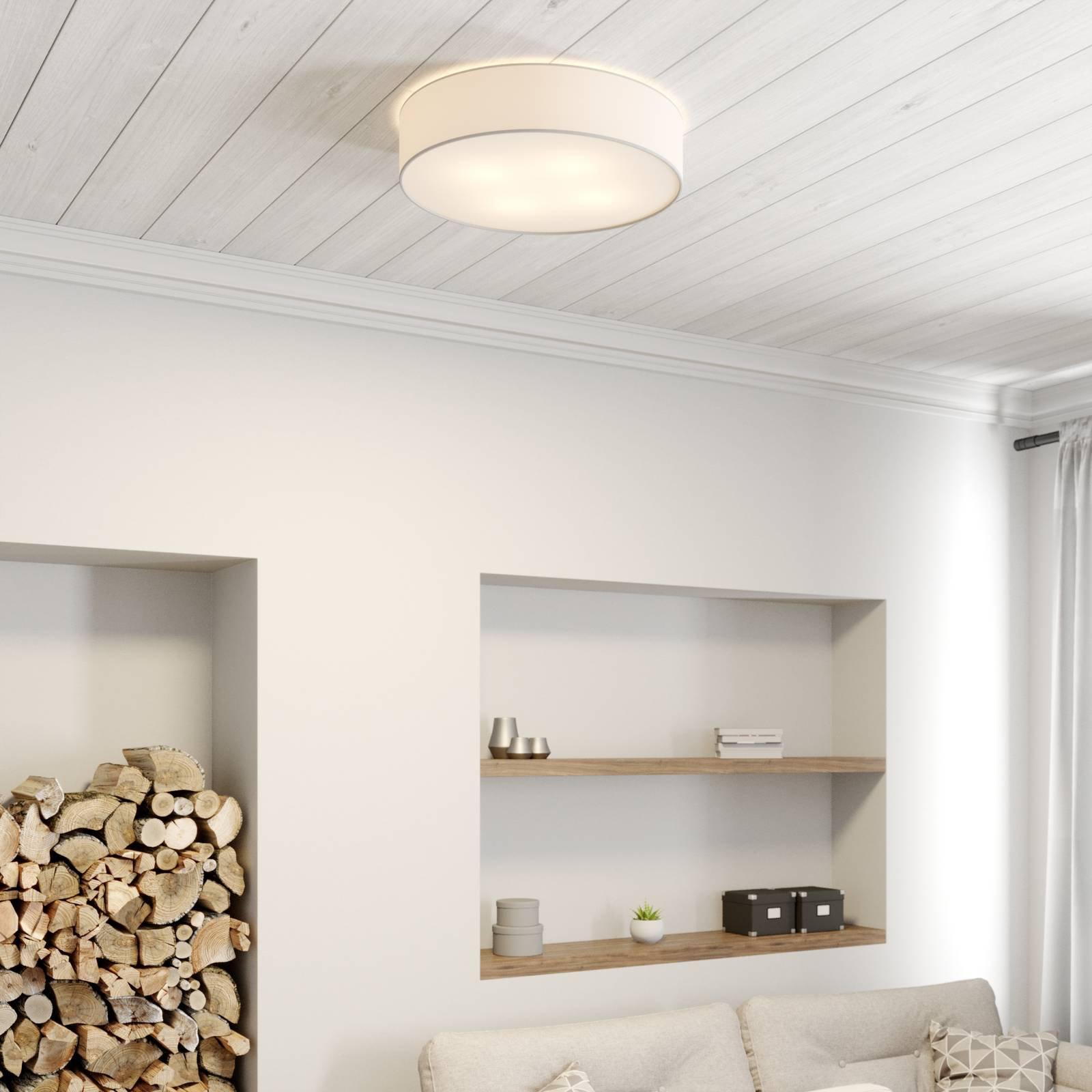 Taklampe Cassy med blende, hvit, Ø 58 cm