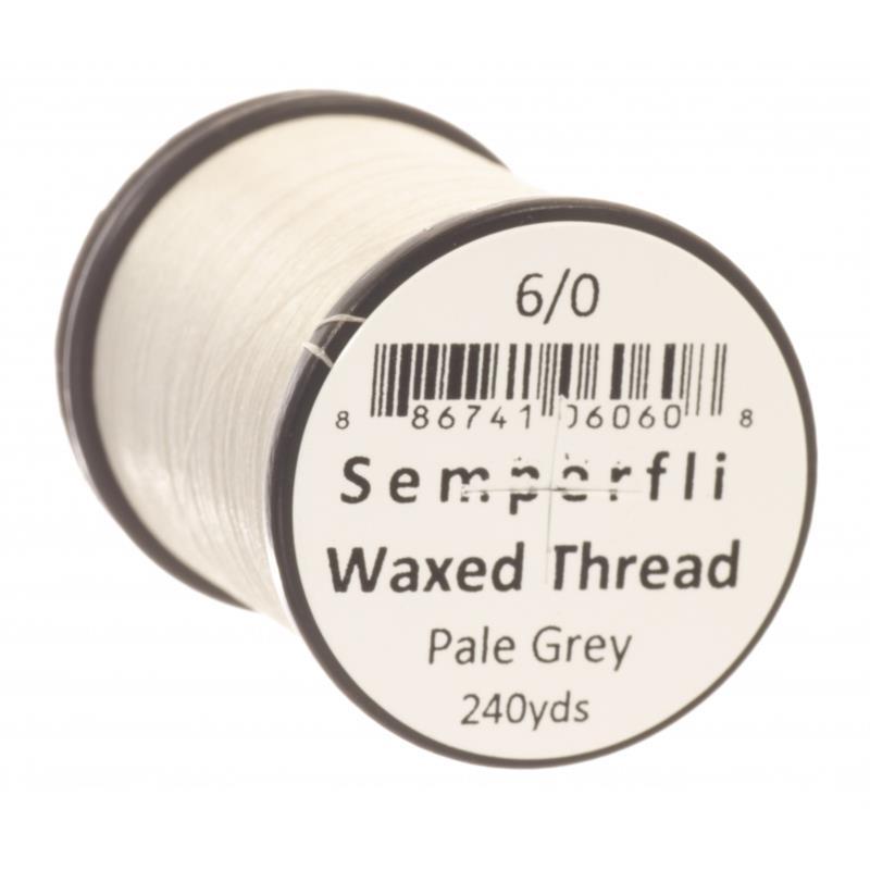 Semperfli Classic Waxed Thread Pale Grey 6/0