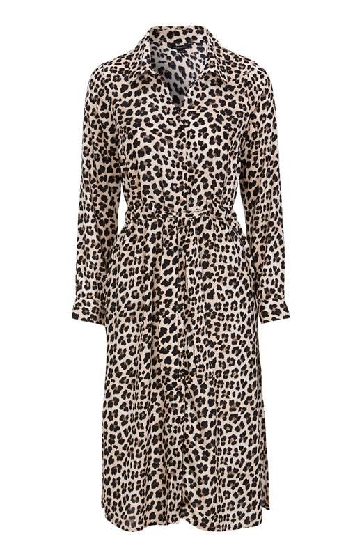 Happy Holly Mönstrad viskosklänning Iris Leopard