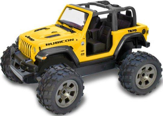 Taiyo Jeep Wrangler Radiostyrt Bil 1:16 Sahara Unlimited, Gul
