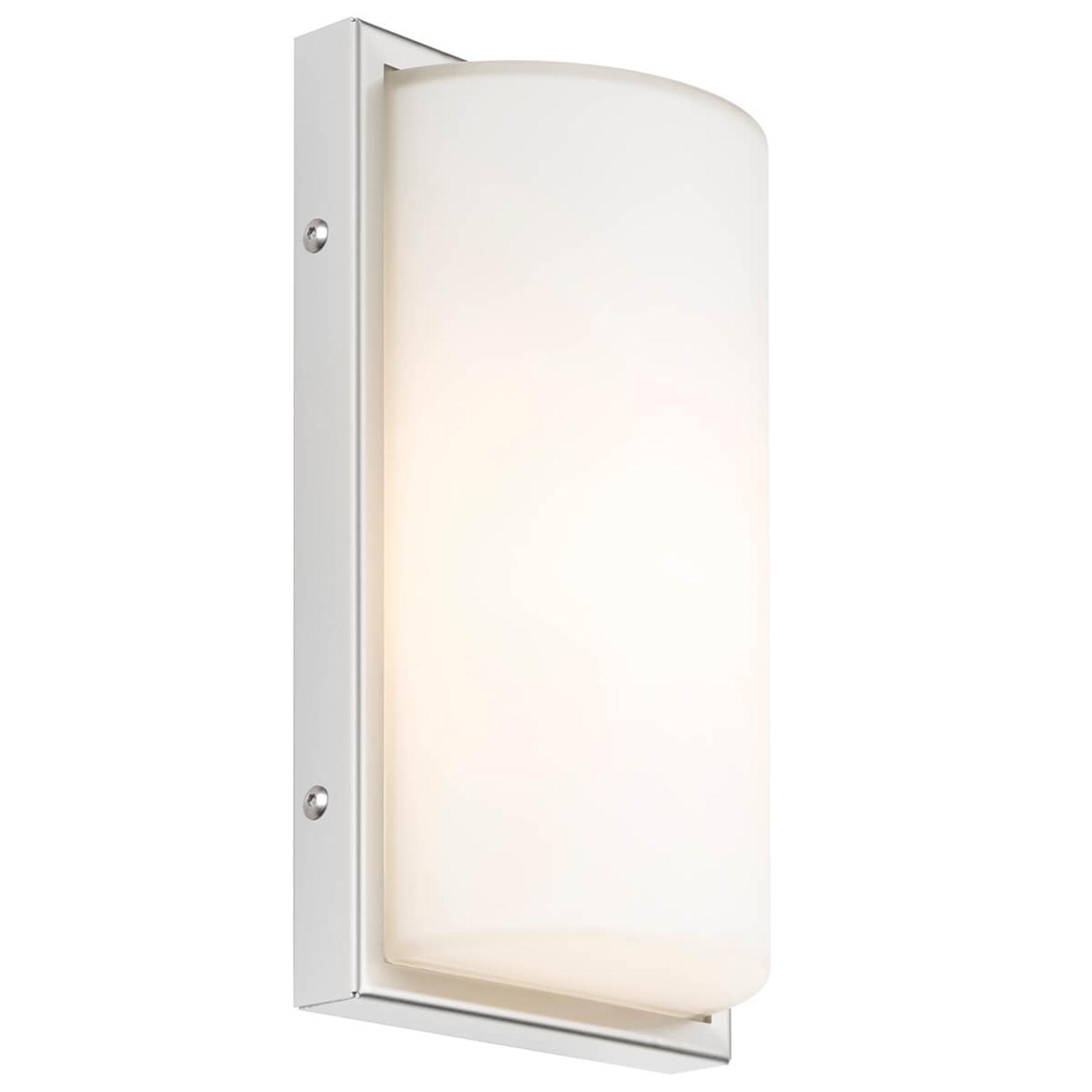 LED-ulkoseinälamppu 040 tunnistimella, valkoinen