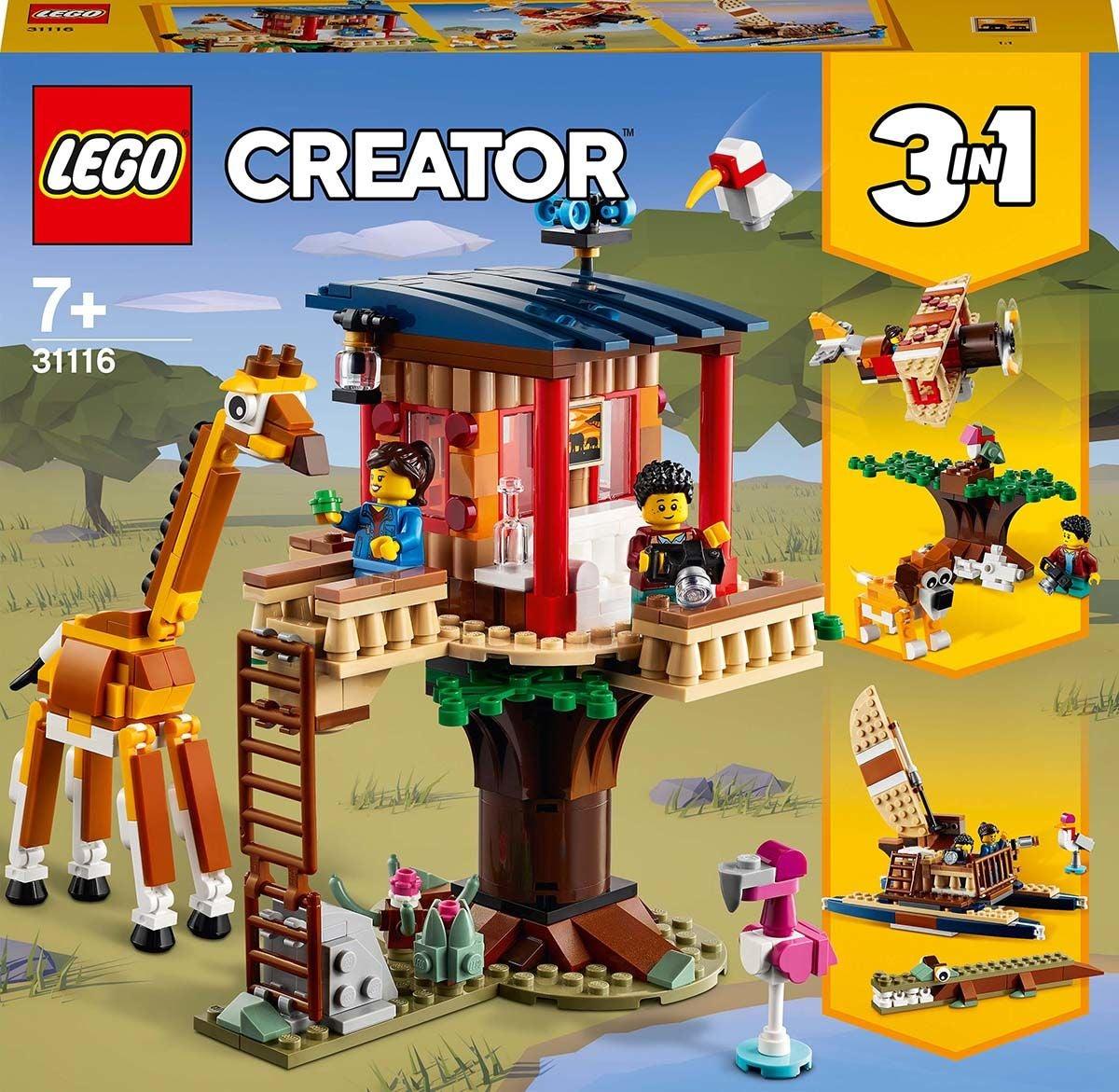 LEGO Creator 3-in-1 31116 Villieläinsafarin Puumaja
