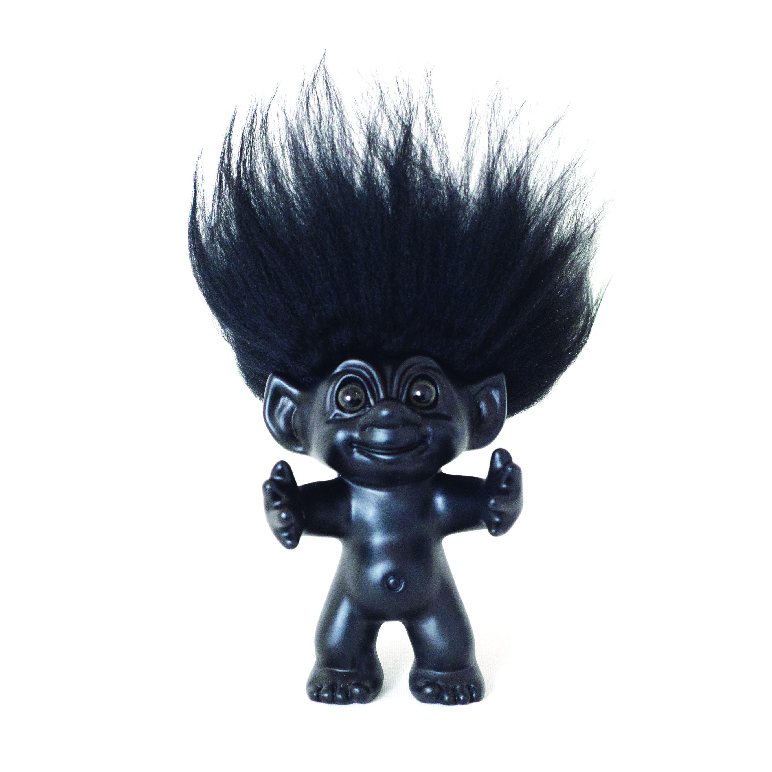 Good Luck Troll - Gjøl Trold 12 cm. - Black/Black (93024)