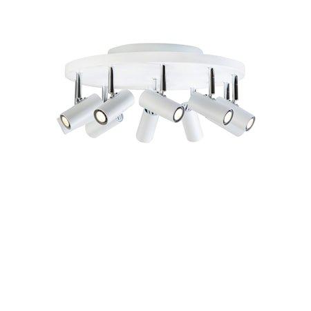 Cato 10-spot Matthvit LED Rund