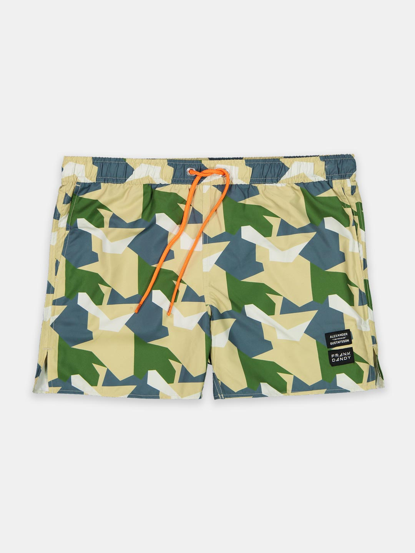 Frank Dandy FD x ALX TM Camo Swim Shorts