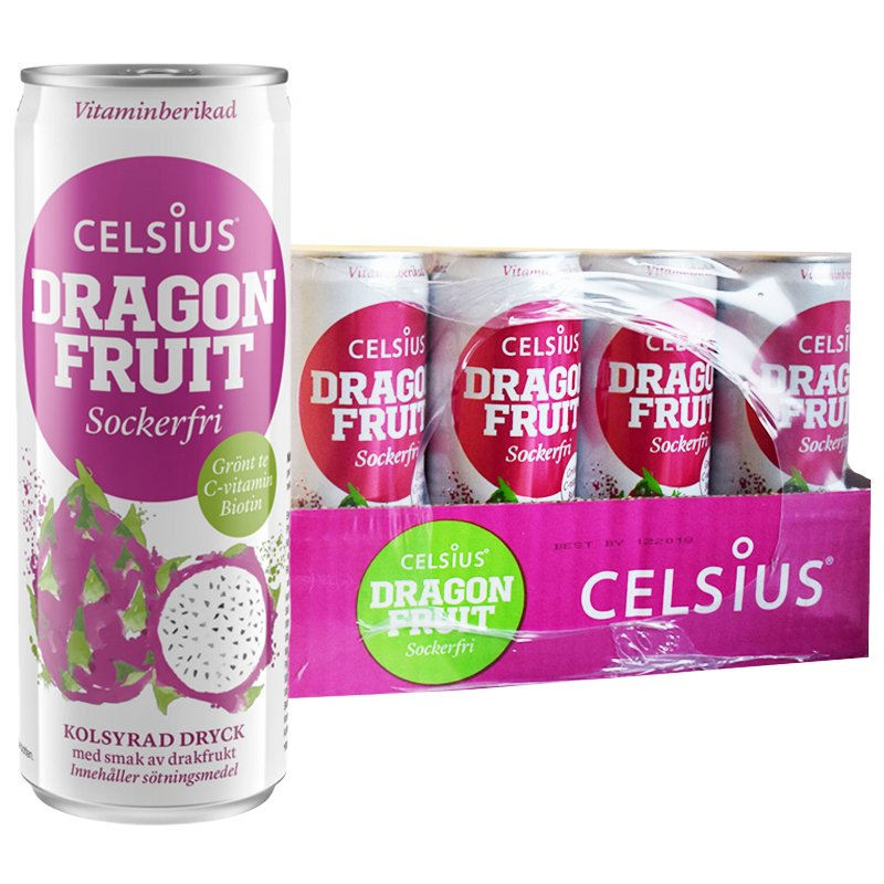 "Hel Platta Funktionsdryck ""Dragon Fruit"" 24 x 355ml - 68% rabatt"