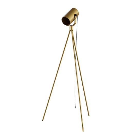La Tuba 1250 gulvlampe tre bein spot, gull
