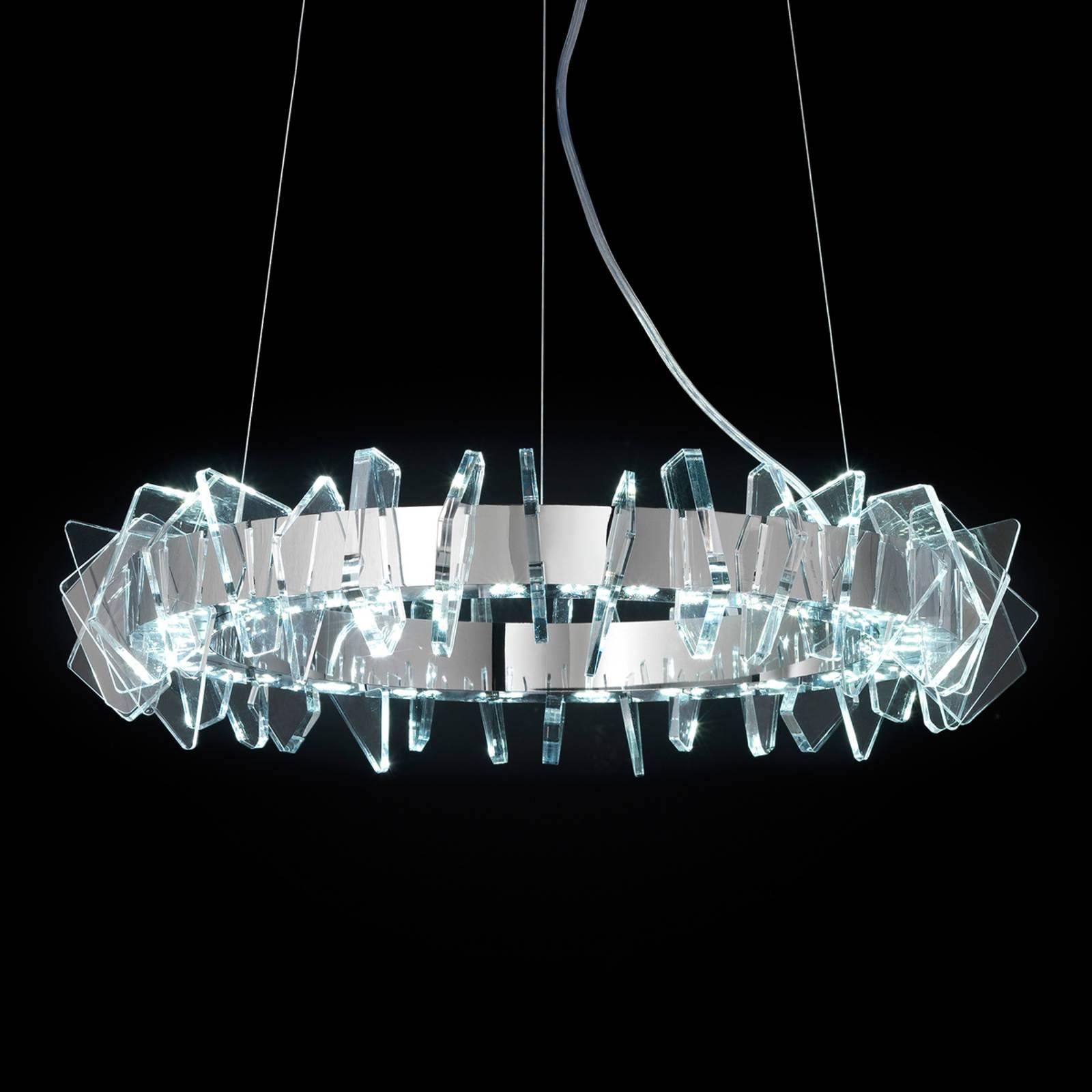 EOS ringformet LED-hengelampe med glass
