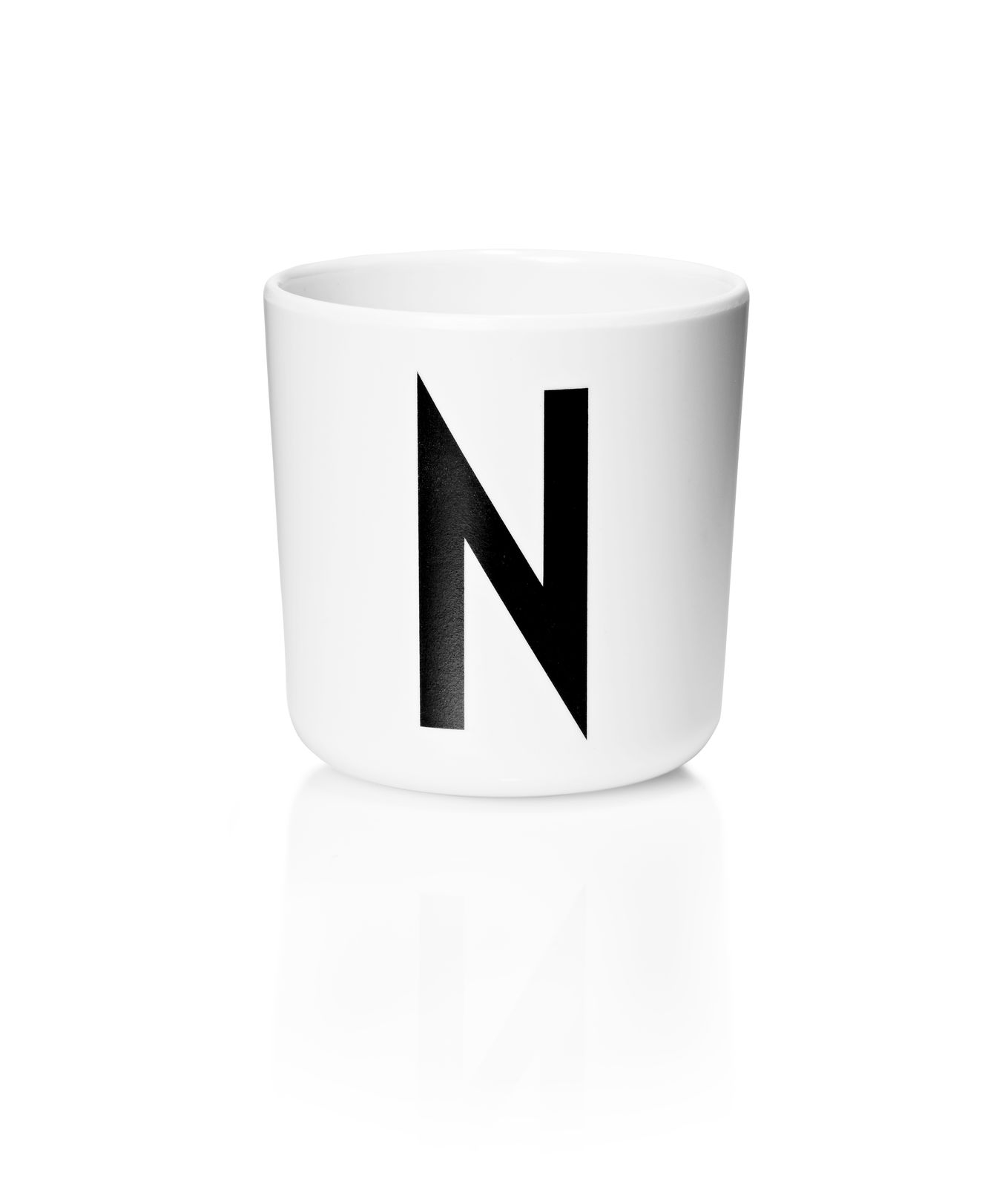 Design Letters - Personal Melamine Cup N - White (20201000N)
