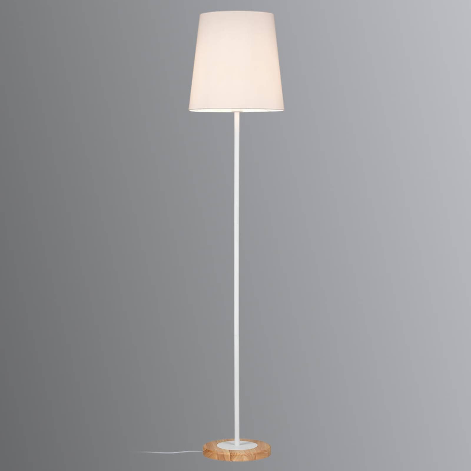 Paulmann Stellan gulvlampe med tekstilskjerm hvit