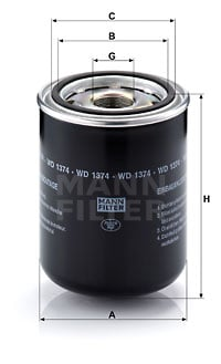 Öljynsuodatin MANN-FILTER WD 1374