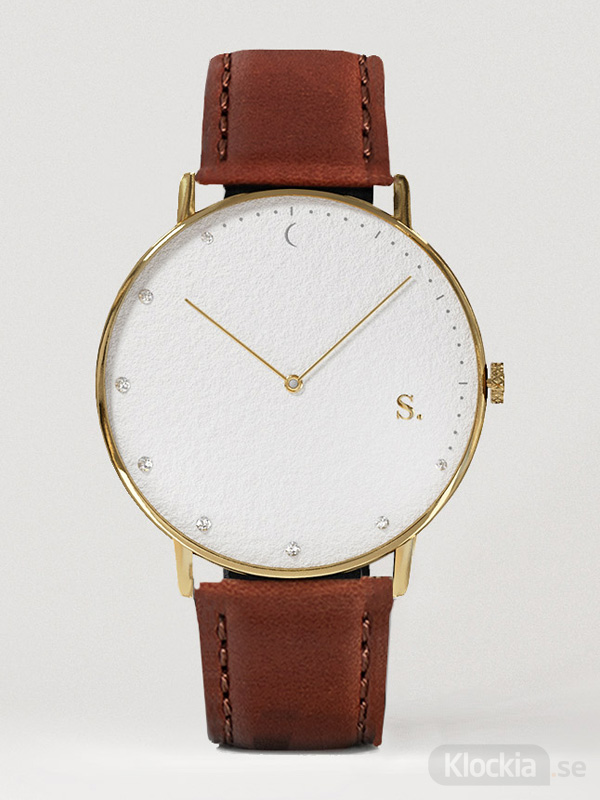 Herrklocka Sandell Bright Day Brown Leather SDW38-BRL