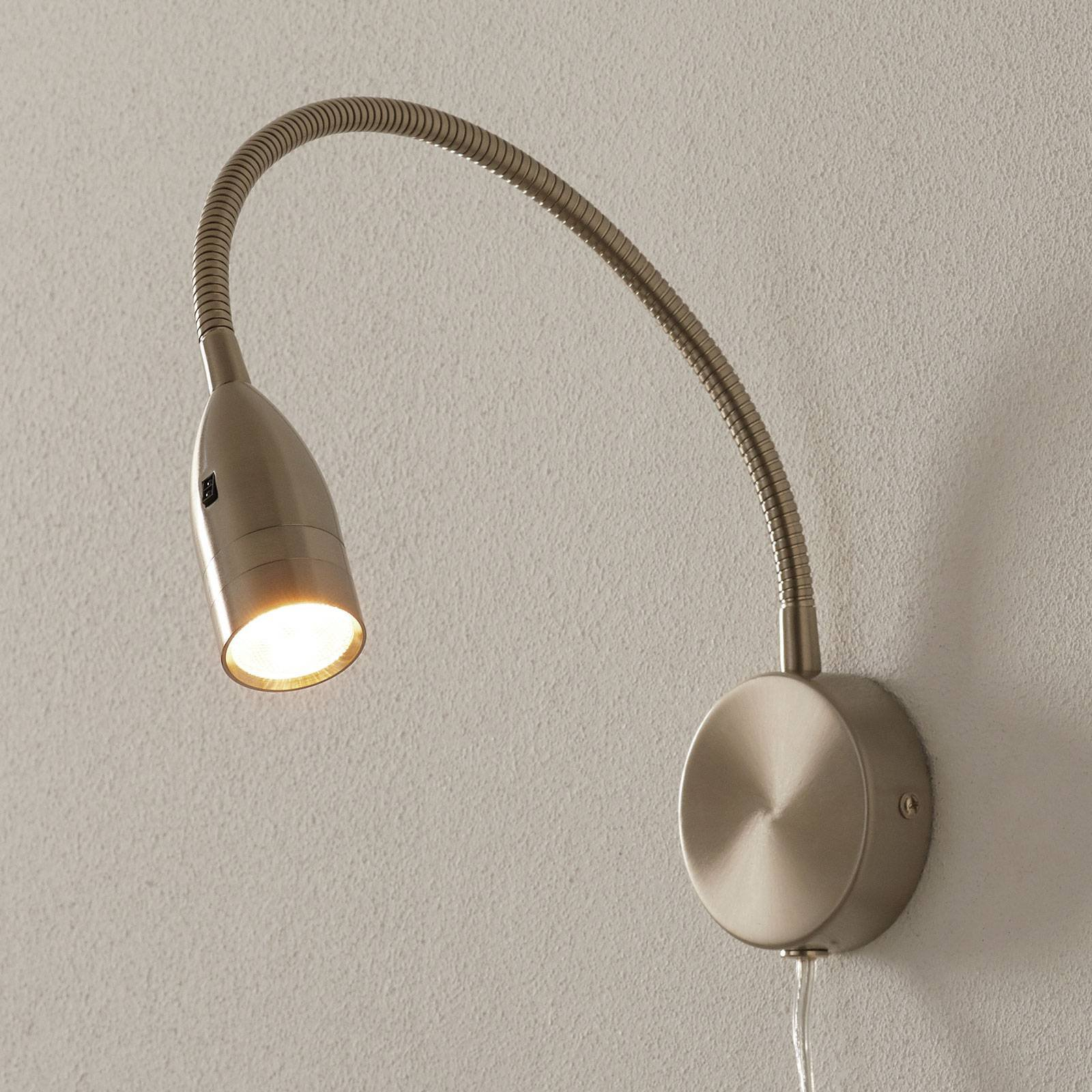 LED-vegglampe Sten bev.styring, veggfeste, rund