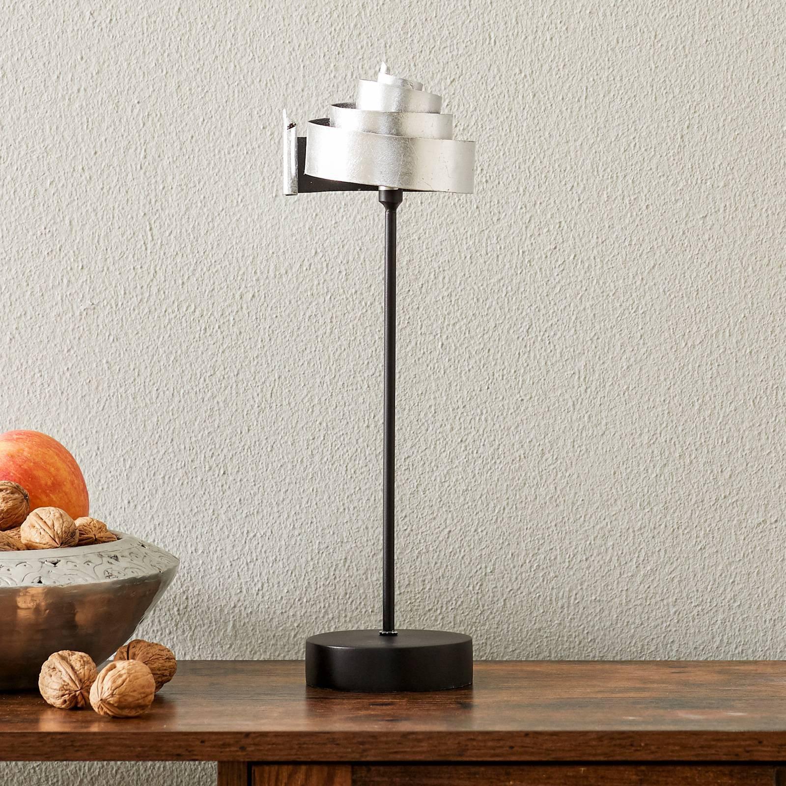 Formfullendt bordlampe BANDEROLE SILBER - jern