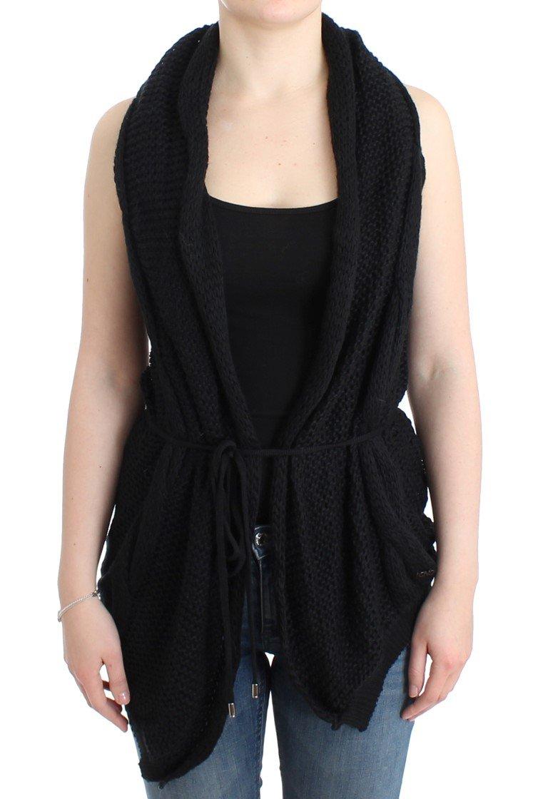 Costume National Women's Sleeveless Knitted Cardigan Black SIG12086 - XS