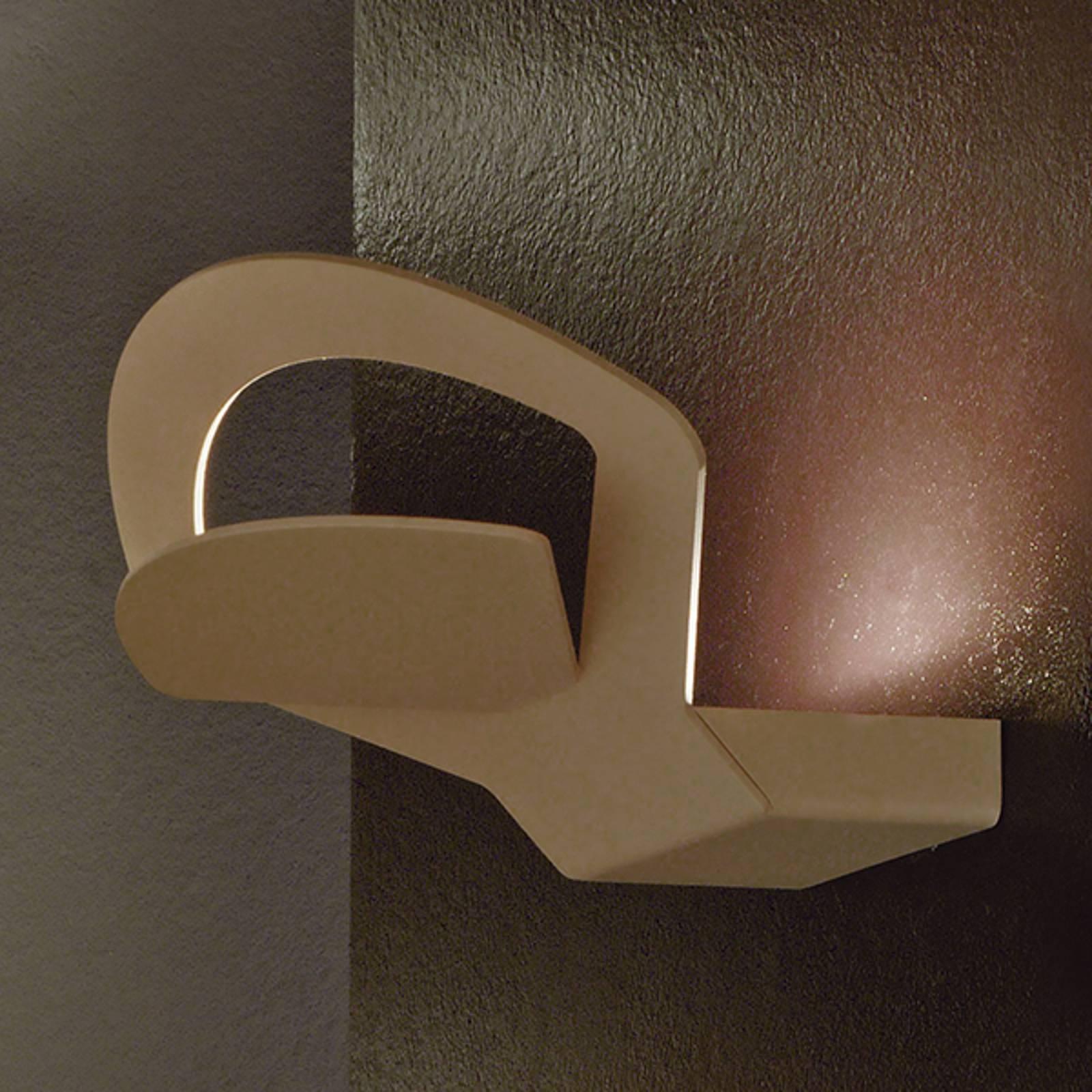 Kaunis LED-seinävalaisin Loto – ruskea