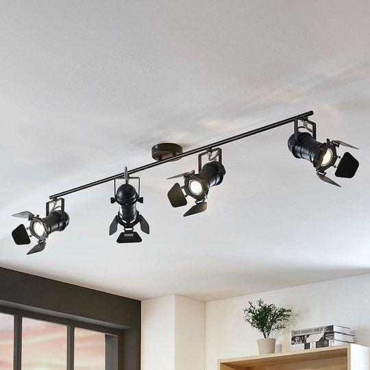 Kattokohdevalo Tilen 4-lamppuinen valonheitintyyli