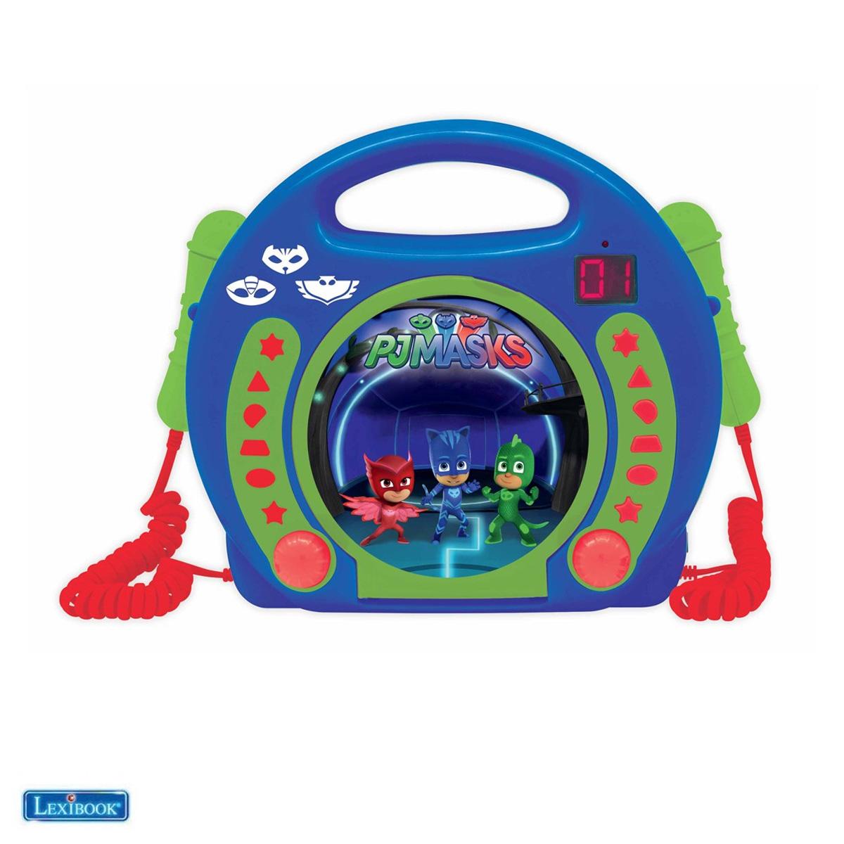Lexibook - PJ Masks Portable CD player with 2 Sing Along microphones (RCDK100PJM)