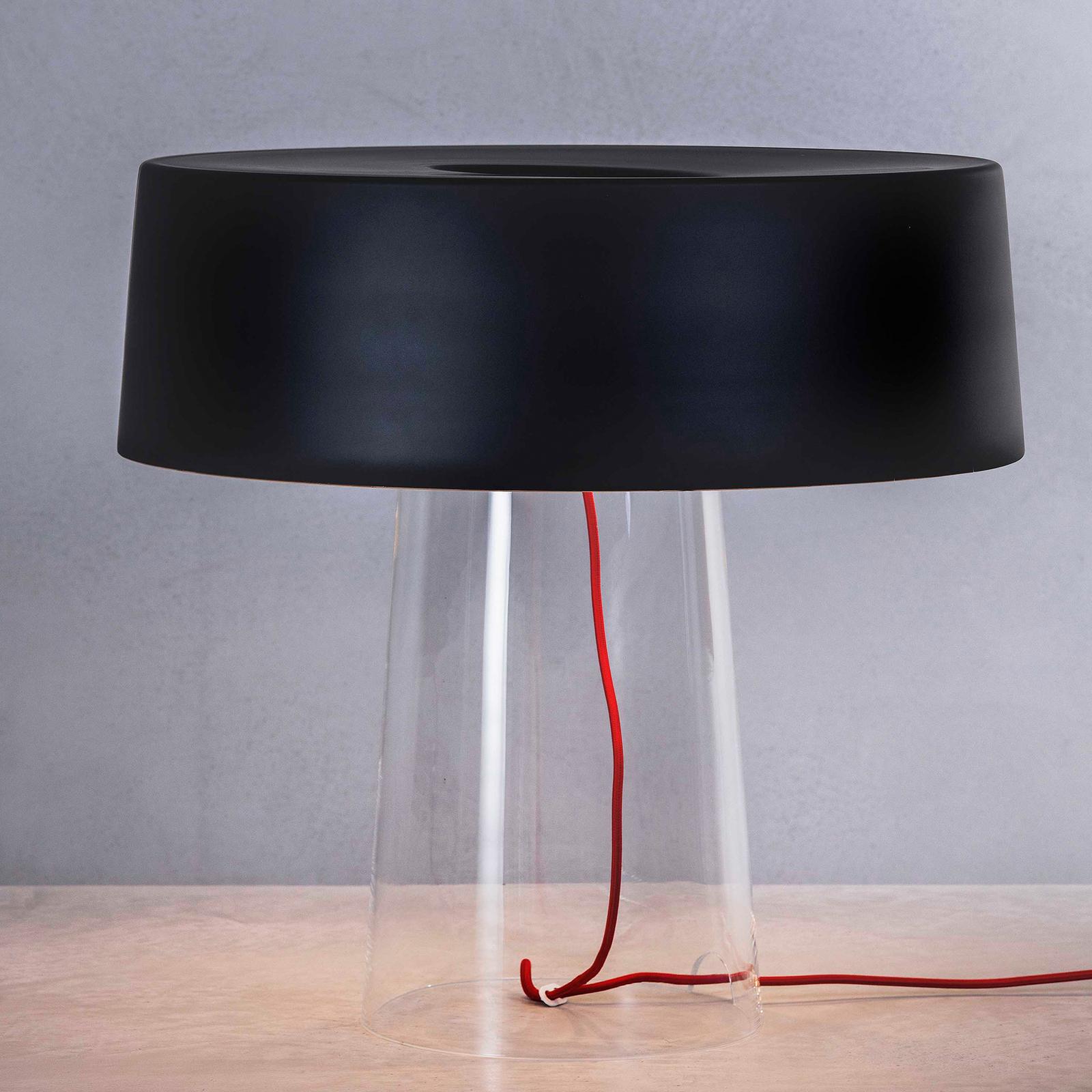 Prandina Glam pöytälamppu 48 cm musta