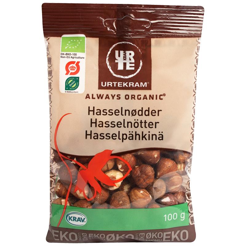Luomu Hasselpähkinät 100g - 22% alennus