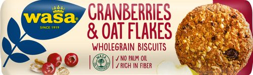 Wasa Kakor Cranberries & Oat Flakes 250g