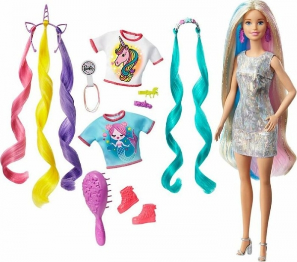 Barbie - Fantasy Hair Doll with Mermaid & Unicorn Looks (GHN04)