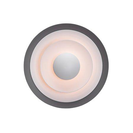 Diablo Vegglampe Grå/Blank svart LED 40 cm