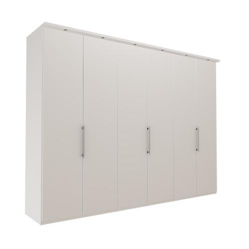 Garderobe Atlanta - Hvit 300 cm, 216 cm, Med gesims