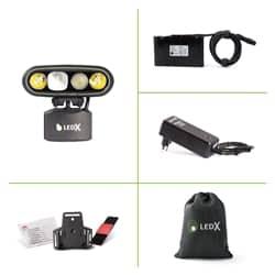 Ledx Mamba 4 000 X-Pand Kit, Holder For Helmet
