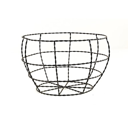 Day home Twisted wire Korg Flätad Ståltråd H 14,5 cm D 23 cm Svart