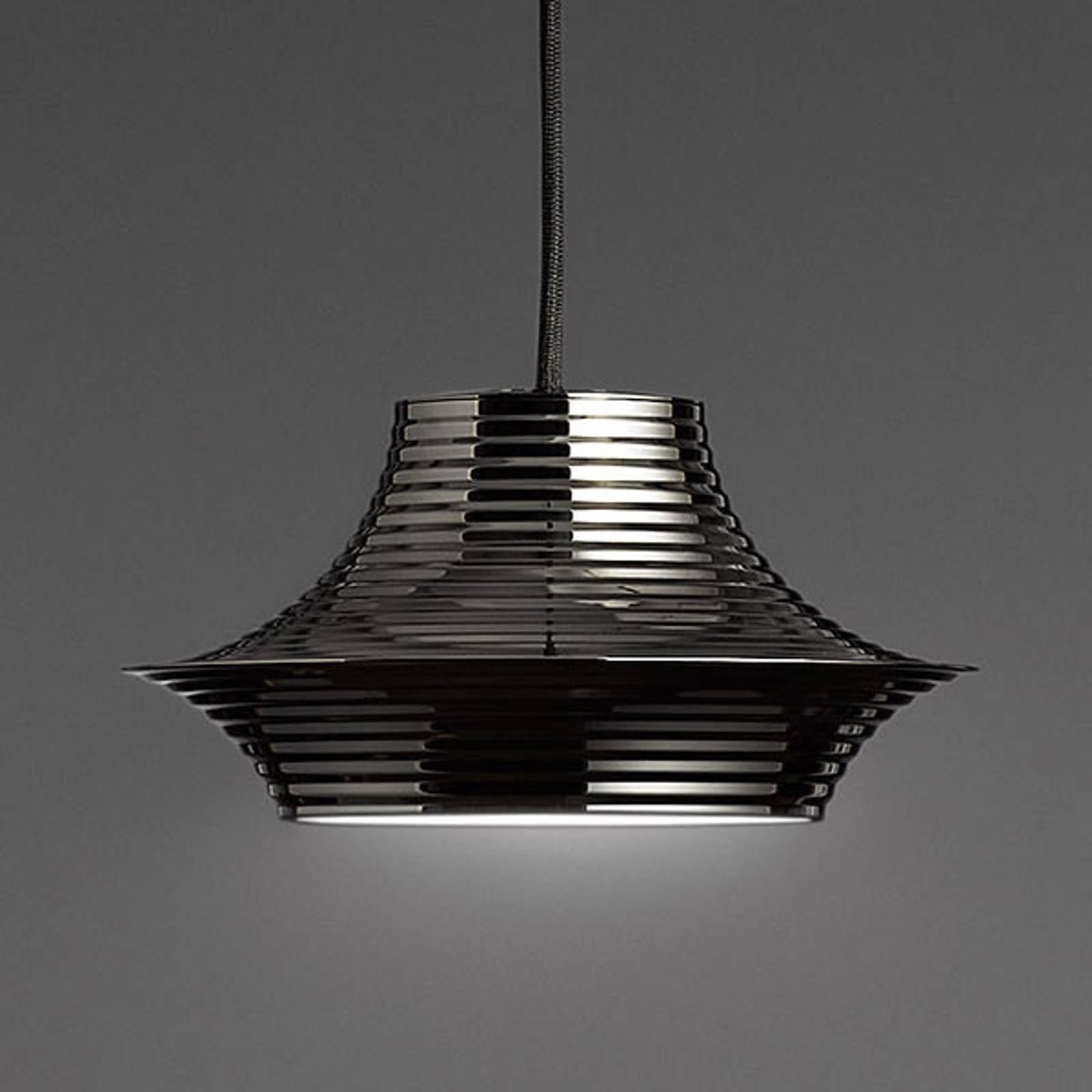 Bover Tibeta 03 - LED-hengelampe i krom-svart