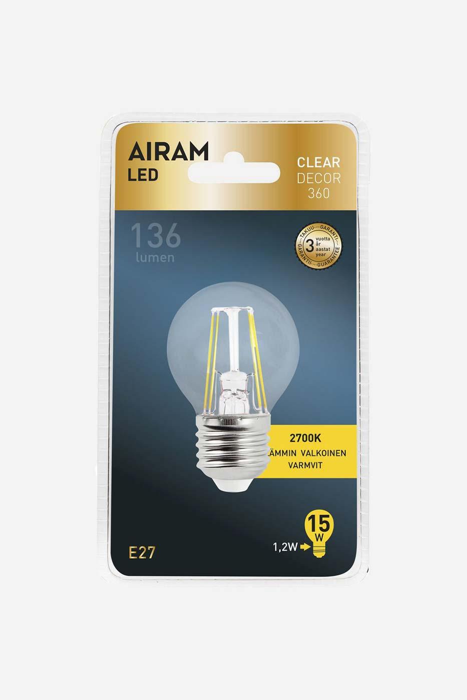 Ljuskälla Filament LED klotlampa