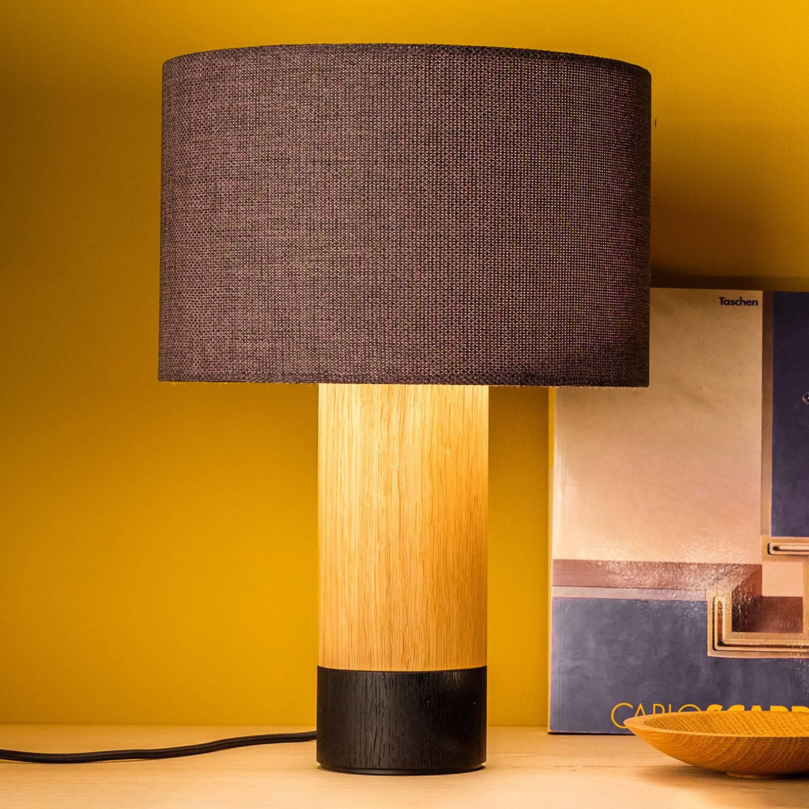Pöytälamppu Klippa musta Trooper Graphit, 41 cm