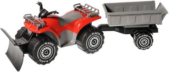 Plasto Firehjuling Med Snøplog Og Tilhenger
