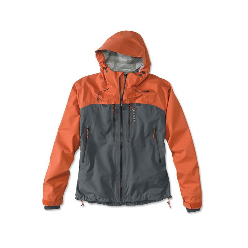 Orvis Ultralight Wading Jacket M Orange/Ash - Ultralett jakke