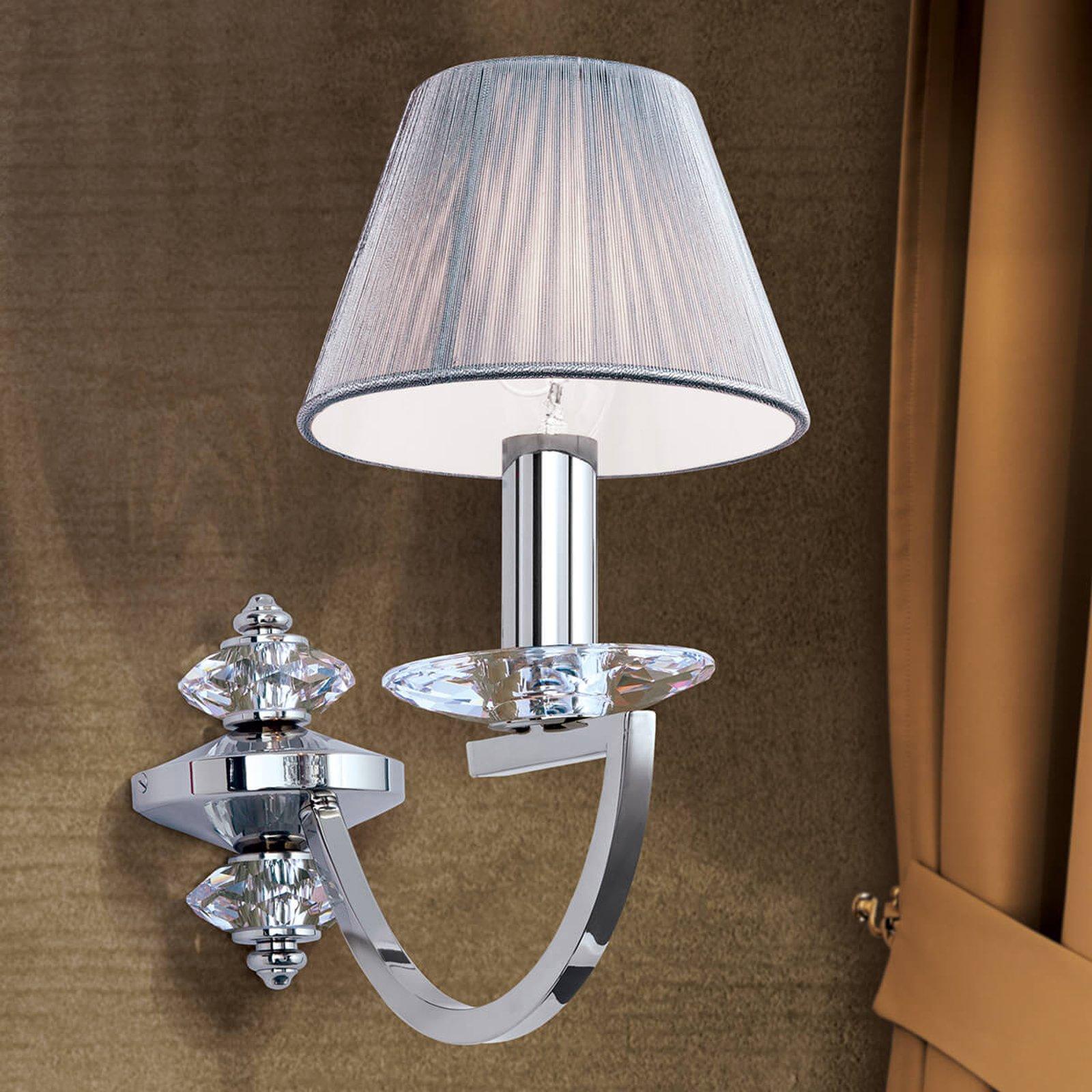 Vegglampe Avala med krystallapplikasjoner