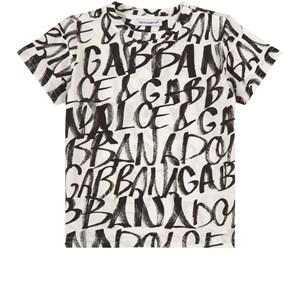 Dolce & Gabbana Grafitti Logo T-shirt Vit 12-18 mån
