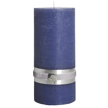 Blockljus Rustic 20 cm Mörkblå